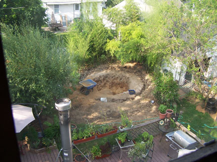 This is the big gaping dirt pit that was in the yard for months.